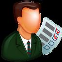 stock, checkboxes, to do list, task, bullets, user, organizer, auditor, organize, supervisor, todo, manager icon