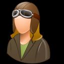 Female, Light, Pilotoldfashioned icon
