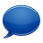 blue,speech,bubble icon