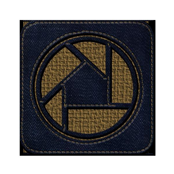 picasa, logo, square, jean, social, denim icon