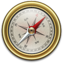 Compass, Gold icon