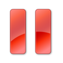 pause,normal,red icon