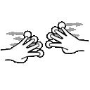 finger, gestureworks, split, four icon