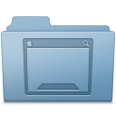 Blue, Desktop, Folder icon
