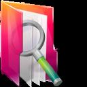 Aurora, Folders, texto, Searches icon