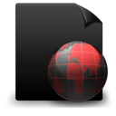 Black, File, Red, Web icon