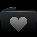 Black, Folder, Heart icon