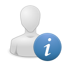 Apps user info icon