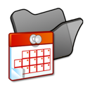 Black, Folder, Scheduled, Tasks icon