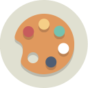 palette, painting, art icon