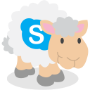 social network, skype, sheep icon