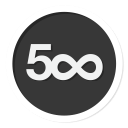 500, 500px, photography icon
