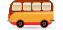 transportation, bus, car, vehicle, van icon