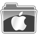 apple, logo, folder icon