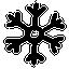 snowflake, snowfall, hand-drawn, winter, snow icon