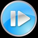 stepforward,pressed,blue icon