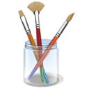 paint, brush, color, design, drawing, draw icon
