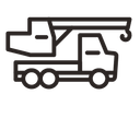 truck, crane, automobile, truck crane, vehicle, transport, car, transportation icon