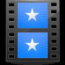 Sidebar Movies Blue icon
