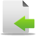 file, document, import, left, arrow, move icon