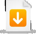 file, document, paper, orange icon