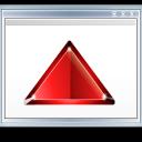 red, fullscreen, full screen, window, arrow, expand icon