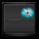 Black, Cyberlink, Powerdvd icon