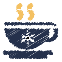 coffee, snowflake, coffee cup, break, snow, scribble icon