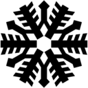 Snowflake shape icon