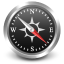 se, compass, south east, navigate icon