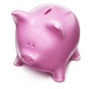 piggybank, pink, money icon