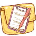 notepad, folder icon