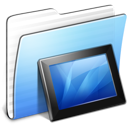 Aqua Stripped Folder Wallpapers icon