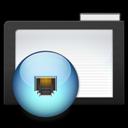 folder, network, dark icon