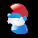 cartoon, smurf icon