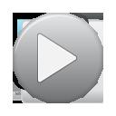 button, play, grey icon