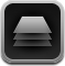 stack, button, single, drawer icon