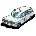car, cadillac, ambulance icon