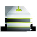 allum, storage, vert, server, network icon