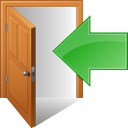 out, exit, sign out icon