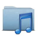 folder,blue,music icon