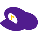 supermario, hat, waluigi icon