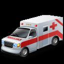 Ambulance, Red icon
