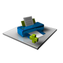 add, printer, plus, print icon
