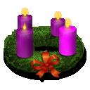 Advent, Wreath icon
