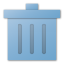 trash, blue, recycle bin icon