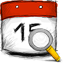 search, date icon