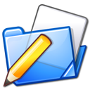 write, pen, folder icon