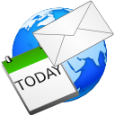 schedule, globe, email, letter, envelop, planet, calendar, kontact, earth, mail, world, date, message icon