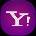 Flat, Round, Yahoo icon
